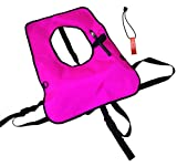 New Snorkeling Vest with FREE Safety Whistle - Hot Pink (Kid's Small)
