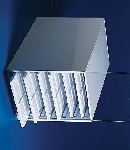 Bel-Art Microscope Slide Tray Cabinet; 12 Trays - 240 Slides Capacity, 14 x 8³⁄₁₆ x 10 in, Plastic (H44583-0000)