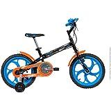 Bicicleta Infantil Caloi Hot Wheels Aro 16 Preta