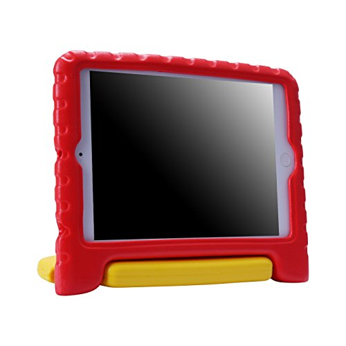 HDE Kids Case for iPad Mini 2 3 -Shock Proof Rugged Heavy Duty Impact Resistant Protective Cover Handle Stand for Apple iPad Mini 1 2 3 Retina (Red & Yellow)