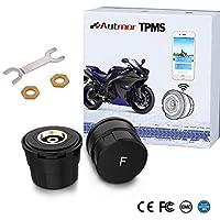 Autmor TPMS Presión de Neumáticos Manómetro de Motocicleta