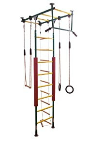 Kletterdschungel Sprossenwand Indoor Klettergerüst (Grün/Gelb, für Raumhöhen...
