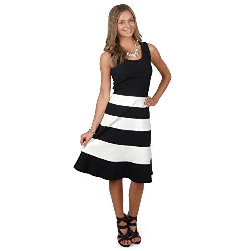Brinley Co. Womens Sleeveless Colorblocked A-line Dress
