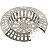 Strainer Sink Plastic Large Silver Kitchen Bathroom Bath Shower Hair Trap Food Stopper Waste Filter Plug Basin 45mm by Concept4u
