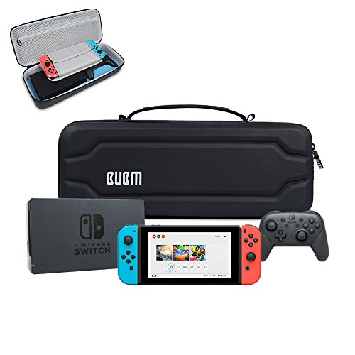 Nintendo Switch Case,portable Travel Carrying Case Hard Shell Pouch for Nintendo Switch Console,Controller,Dock and Accessories,Black