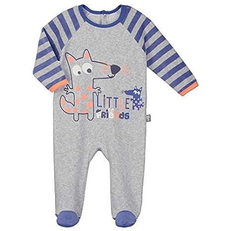 c5432b1a133e3 Pyjama bébé velours Little Friends - Taille - 3 mois (62 cm)  Amazon ...