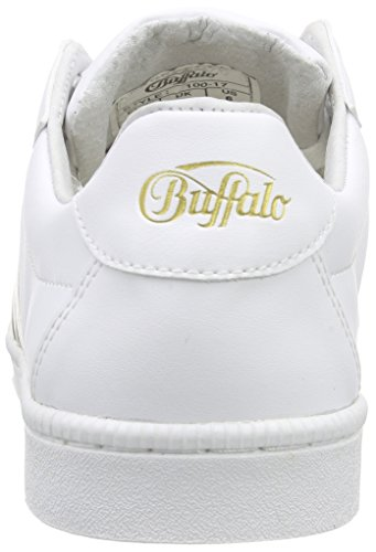 100 PU Leather Baja Mehrfarbig White461 17 Buffalo Mujer Zapatilla dwTq1dx