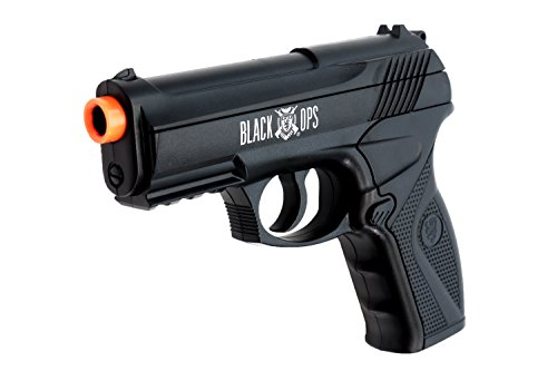 Black Ops BOA Semi Automatic Airsoft Pistol - C02 Powered Airsoft BB Pistol - Shoot 6mm BBs ()