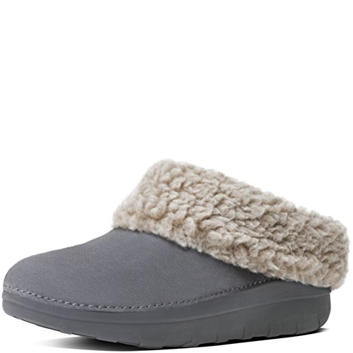 Slipper FitFlop Snug Women's Loaff Charcoal Suede 4qw8zqI