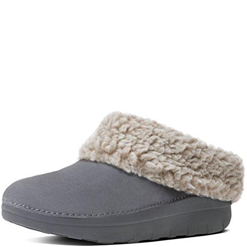 Slipper FitFlop Snug Women's Loaff Charcoal Suede 4qw8zqI