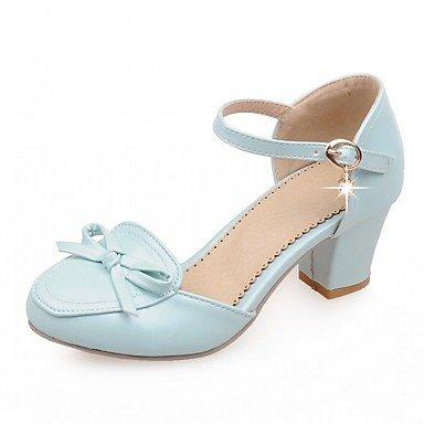 RUGAI-UE Moda de Verano Mujer sandalias casuales zapatos de tacones PU Confort caminar al aire libre,red,US5 / UE35 / UK3 / CN34 Blue