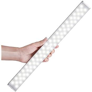 LED Closet Light , Newest Version Rechargeable 62 LED Motion Sensor Closet  Light Wireless Under