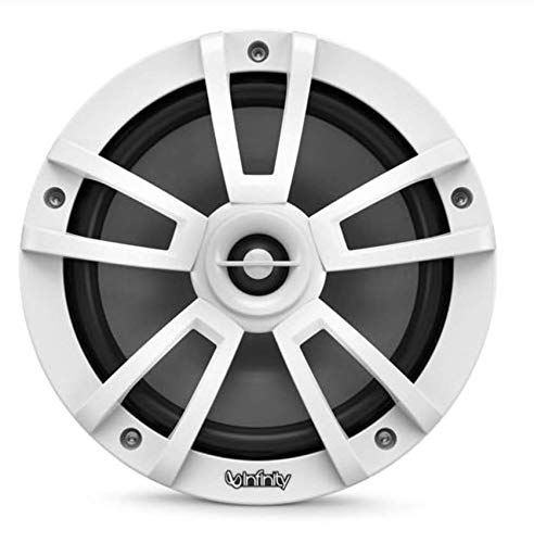Infinity 822MLW Marine 8 Inch RGB LED Coaxial Speakers - White -