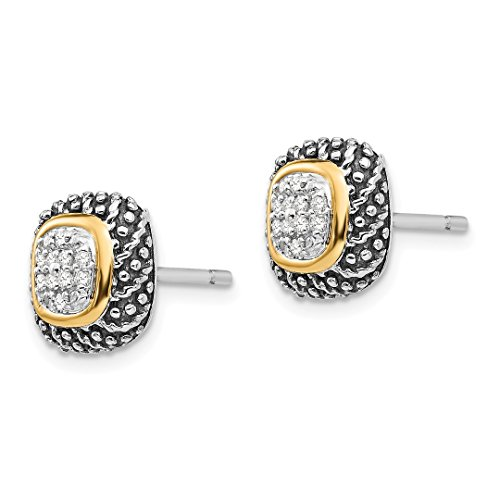 ICE CARATS 925 Sterling Silver 14k Diamond Post Stud Ball Button Earrings Fine Jewelry Gift Set For Women Heart by ICE CARATS (Image #3)