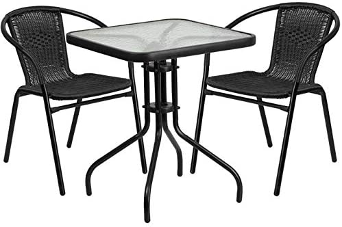 Bowery Hill 3 Piece Square Patio Bistro Set