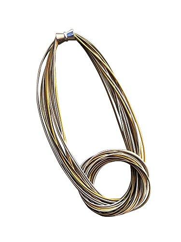 Sea Lily Multi Piano Wire Necklace - Necklace Wire Multi
