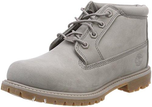 Timberland Womens Nellie Chukka Double Grey Nubuck Boots 5 US
