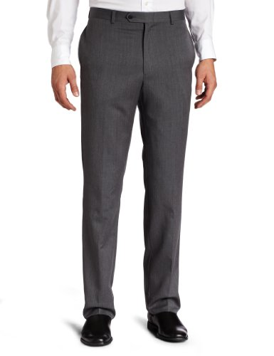 - Tommy Hilfiger Men's Flat Front 100% Wool Dress Pant, Grey, 30W x 32L
