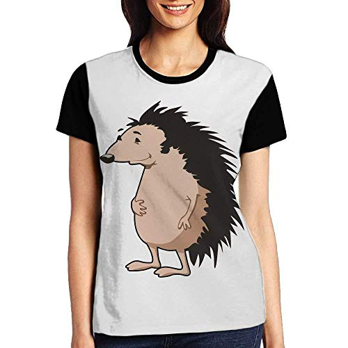 Women's O Neck T Shirts Tee-Shirt/Cartoon Hedgehog ()