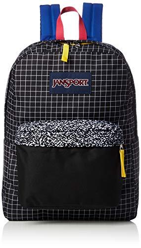 Grid Girl - JanSport Unisex SuperBreak Black Grid One Size