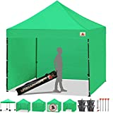 ABCCANOPY Canopy Tent 10 x 10 Pop Up Canopies Commercial Tents Market stall with 4 Removable Sidewalls and Roller Bag Bonus 4 Weight Bags and 10ft Screen Netting and 10ft Half Wall(30+Muti Colors)