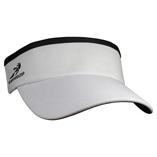 Triathlon Running Hat (Headsweats Supervisor Sun/Race/Running/Outdoor Sports Visor, White, One Size)
