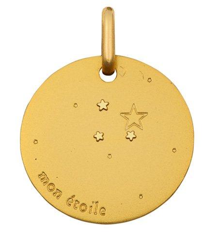 Bien connu Medaille de bapteme ronde Mon Etoile - Or 18 carats: Amazon.fr: Bijoux ZR52