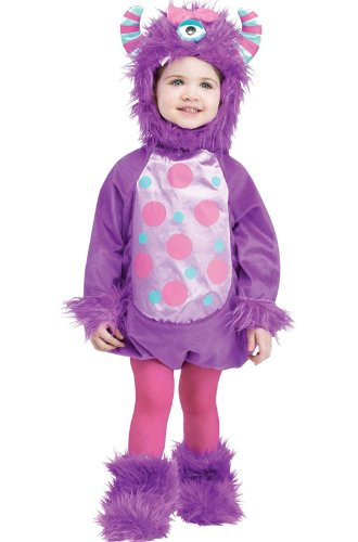 Fun World Little Girls' Infant Monster Baby Purple Costume Standard (Purple Monster)