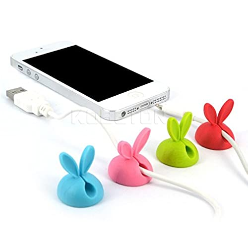 10 x Cable Clip Desk Tidy Wire Drop Lead USB Charger Cord Holder Secure Table