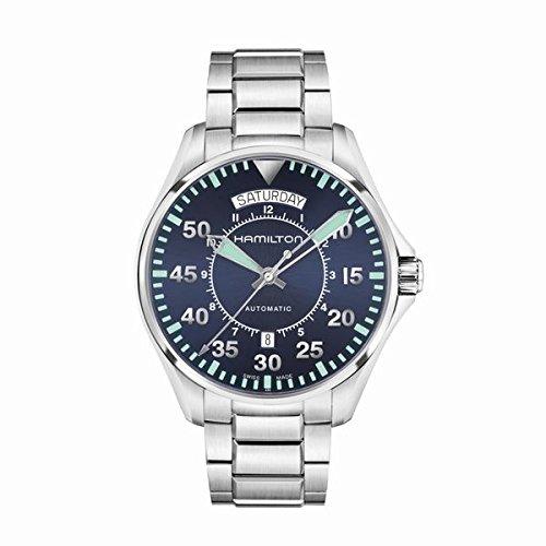 Men's Hamilton Khaki Aviation Pilot Day Date Auto Watch H64615145 -