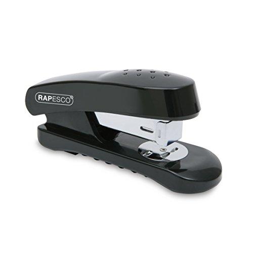 Rapesco Snapper - Grapadora de media carga, 20 hojas de capacidad, usa grapas 26/6 y 24/6 mm, color negro