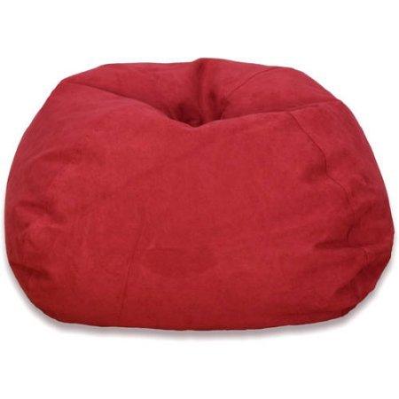 Large Microsuede Bean Bag, Red