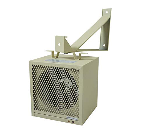 - TPI Corporation HF5848TC Garage/Workshop Fan Forced Portable Heater, 4800/3600 Watts, 240/208 Volts, Includes Wall/Ceiling Bracket, Built-in Thermostat, 30 Amp Cordset