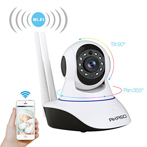 akaso wireless wifi ip security camera 720p indoor home surveillance system baby pet monitor 2. Black Bedroom Furniture Sets. Home Design Ideas