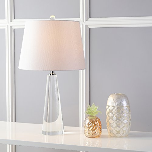 Gladys Clear/Off White Glass Table Lamp Set of 2 - Safavieh