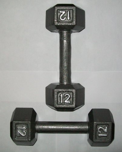 Apollo 12 lb. Hex Dumbbells Pair