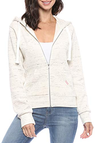- Womens Active Long Sleeve Fleece Zip Up Hoodie with Plus Sizes (X-Large, B1 Solid Oatmeal)