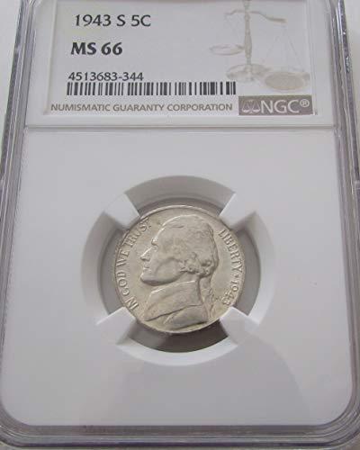 1943 S Jefferson Nickel MS-66 NGC (Jefferson Ngc Nickel Mint)
