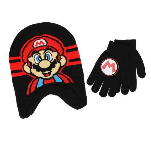 Cheap Super Mario Costumes (Super Mario Kids Winter Hat Beanie Mittens Gloves 2 Piece SET)