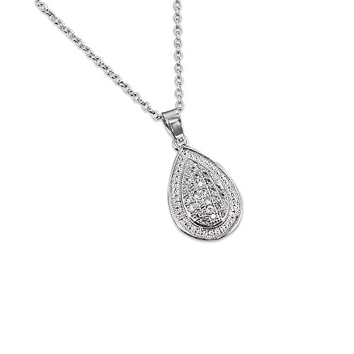 Gifts for Women Necklace 18k Plated Cubic Zirconia Exquisite Pendant Necklace for - Trends Popular The 70s In