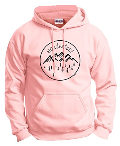 Travelers Gift Ideas Hiking Gift Hiking Clothes Wanderlust Gifts Travel Wanderlust Clothes Hoodie Sweatshirt Large LtPnk