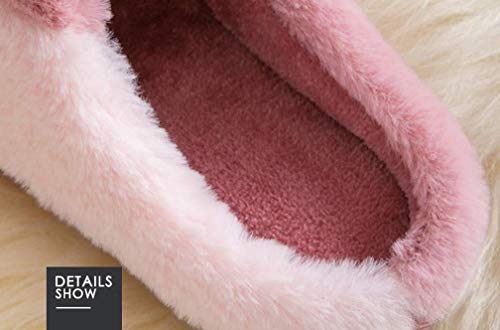 Slipper Bunny Cute Home Fuzzy Pink Womens Warm Indoor Cozy Slippers R6wq8Eq