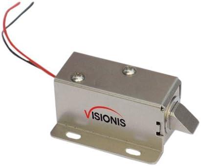 Visionis VIS-CL101 Cerradura Eléctrica Solenoide para Archivador o ...