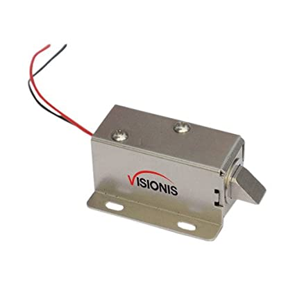 Visionis VIS-CL101 Cerradura Eléctrica Solenoide para Archivador o Vitrina 12V