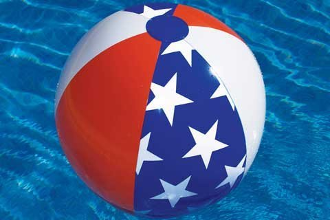 (Americana 24in. Inflatable Beach Ball Pool Toy)