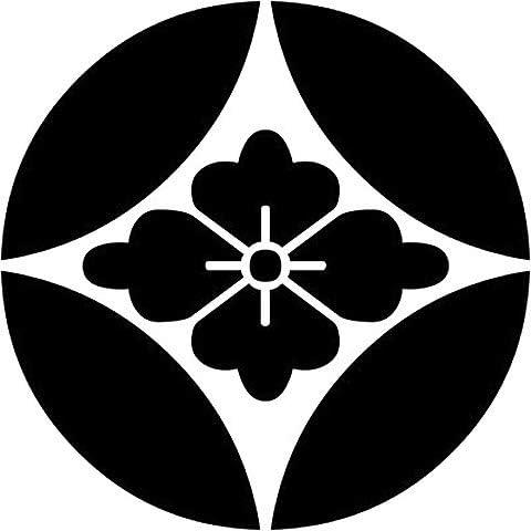 家紋シール 「七宝に花菱」6枚入 男性紋・女性紋・子供サイズ・黒地用・白地用 貼付け家紋 着物用 KOM170
