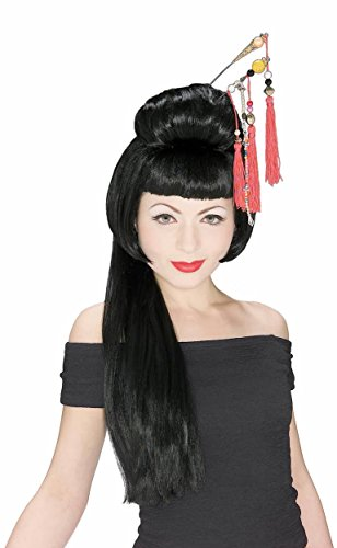 Rubie's Costume China Girl Wig, Black, One (Easy Decade Costumes)