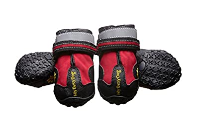 My Busy Dog Water Resistant Dog Shoes with Two Reflective Fastening Straps and Rugged Anti-Slip Sole  from My Busy Pet