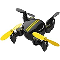 Leewa@ SHR/C SH1 Mini 2.4 4CH 6-Axis Gyro Foldable Drone RC Quadcopter 3D UFO Attitude Hold Without Camera