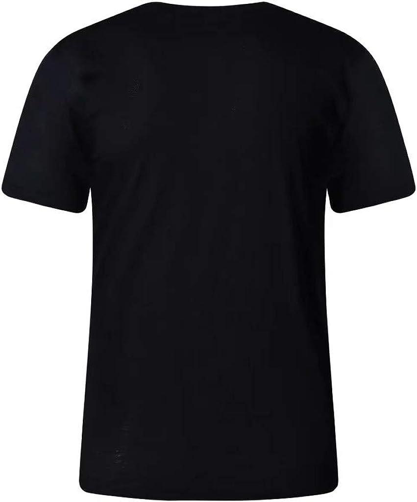 Mens Summer Fashion Casual Comfort Print Short Sleeve T-Shirt Blouse Tops
